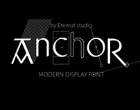 Anchor display font