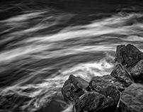 Long exposure, sea and cloud