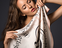 Morgentau silk scarves