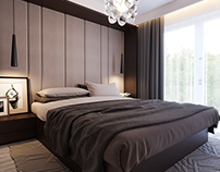Interior design bedrooms residential house S.G. Belgium