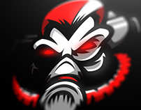 Diminish gaming mascot logo design