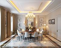 Dining Room Design 3D Rendering by ArchiCGI