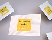 MOCKUP - Realistic Business Card & A4 paper Mockup