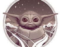 The Child - Mandalorian / Star Wars screenprint