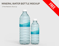 FREE MINERAL WATER BOTTLE MOCKUP IN PSD