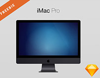Free iMac Pro Sketch Mockup