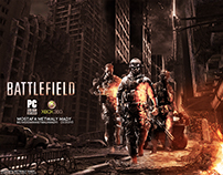 """Poster for """" battlefield """" Game"""