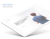 """Screen Interactive"" digital agency website"