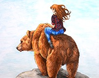 Girl on a Bear