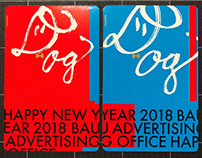 2018 New Year's card for BAU advertising office