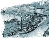 Cote 195, vues de la Croix-Rousse immergée.
