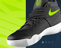 Nike sneakers promo page