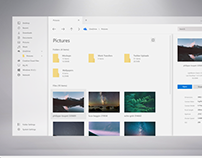 Fluent-inspired concept for Windows Explorer app