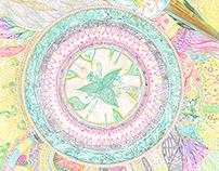 Noospheres A3 (gel ink doodle drawing)