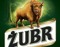 Żubr Beer - brand design