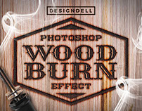 Wood Burn Photoshop Effect