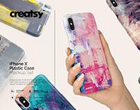 iPhone X Plastic Case Mockup Set