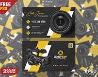Photography Business Card PSD Template Set
