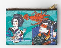Design Japonais pour l'E.B.I Trousse et Tenugui 2018.