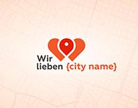 Wir lieben {city name} - branding