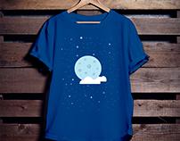 Moon Illustration T-Shirt Design