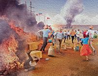 Allegory of Fire / Teatro Nacional de Costa Rica