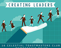 Poster for Membership Drive of 16 Celestial Toastmaster