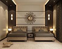 modern doube bedroom