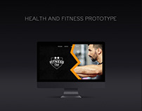 Website | Health & Fitness Prototype (UI)