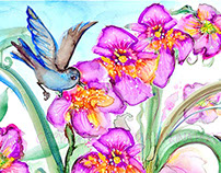 BIRDS AND ORCHIDS