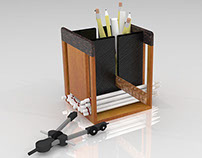 Wooden Pencil Holder