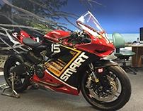 Motorbike branding wrap