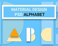 Free: Material Design Psd Alphabet