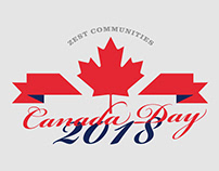 Canada Day 2018 Logo - For St. Elizabeth Mills