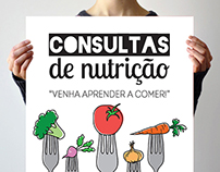 Cartaz/Flyer - Consultas de nutrição | Egas Moniz