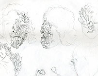 foam latex prosthetic process & concept sketches