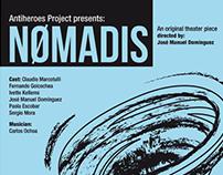Cartel para la obra de teatro Nomadis.