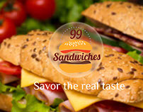 99 Sandwiches - Branding and Identity