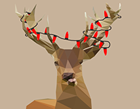 Low Poly Christmas Card
