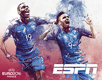 ESPN / EURO 2016 illustrations