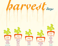 Earth & Harvest Days Series Posters.