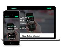 COULEUR 3 RADIO / Landing page