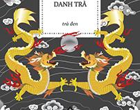 Golden Dragon Royal Tea label - Rồng Vàng Danh Trà