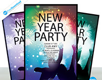 New Year Party Flyer Free Template Psd