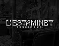 L'ESTAMINET, RESTAURANT BRANDING AND LOGOTYPE
