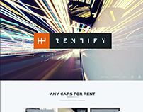 Rentify - Car Rental & Booking PSD Template