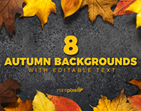 8 Colorful Autumn Backgrounds