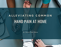 Alleviating Common Hand Pain At Home