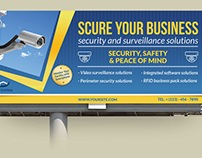 Security System Billboard Template