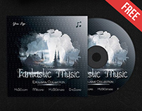 Fantastic Music – Free CD Cover PSD Template